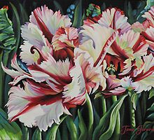 Fancy Parrot Tulips by Jane Girardot