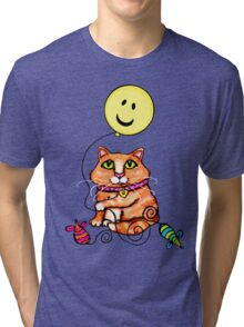 Cat Lover's Cute Tabby  T-Shirt Tri-blend T-Shirt