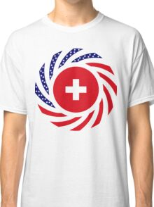 Swiss American Multinational Patriot Flag Series Classic T-Shirt