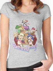 [RO1] Creative Design September 2015 Winner - Heroes Vs Monsters Women's Fitted Scoop T-Shirt