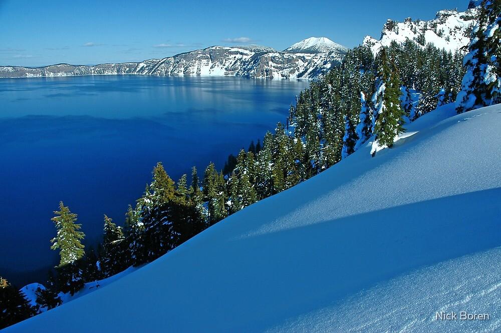 Crater Lake Winter Landscape 1 by Nick Boren
