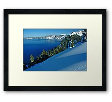 Crater Lake Winter Landscape 1 Framed Print