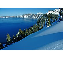 Crater Lake Winter Landscape 1 Photographic Print