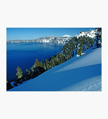Crater Lake Winter Landscape 1 Photographic Print