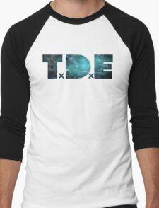 TDE TOP DAWG TEAL OCEAN BLUE  NEBULA Men's Baseball ¾ T-Shirt