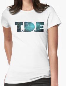 TDE TOP DAWG TEAL OCEAN BLUE  NEBULA Womens Fitted T-Shirt
