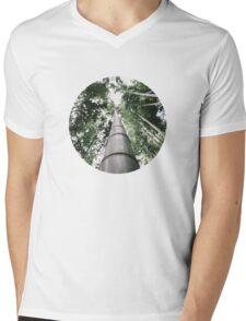 Round Bamboo Mens V-Neck T-Shirt