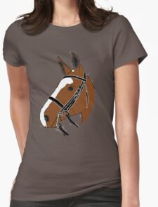 Chestnut Horse Womens Fitted T-Shirt