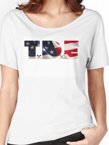 TDE TOP DAWG RED WHITE BLUE AMERICA FOURTH OF JULY 4TH Women's Relaxed Fit T-Shirt