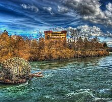 Riverfront Park Falls by Arelle Hall