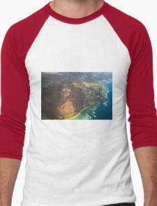 Diamond Head in Waikiki Beach - Honolulu, OAHU HAWAII Men's Baseball ¾ T-Shirt