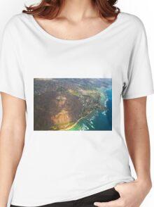 Diamond Head in Waikiki Beach - Honolulu, OAHU HAWAII Women's Relaxed Fit T-Shirt