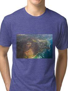 Diamond Head in Waikiki Beach - Honolulu, OAHU HAWAII Tri-blend T-Shirt