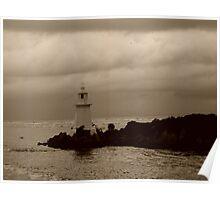 Lighthouse on Sarah Island - 2 - tasmania   -  sepia Poster
