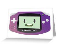 BMO - Purple GBA Greeting Card