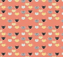Kitties - Coral by Lisa Argyropoulos