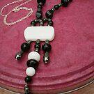 NEW!  Handmade heavy gem set silver plated long length necklace by anaisnais