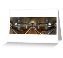Elbe Tunnel - 360 HDR Panoramic Greeting Card