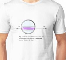 Coloring inside the lines Unisex T-Shirt