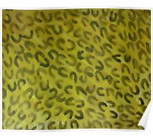 Wild animal pattern (leppard) #2, watercolor Poster