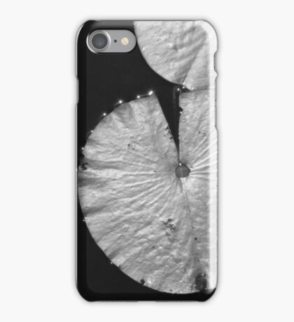 Lily Pad, Black and White iPhone Case/Skin