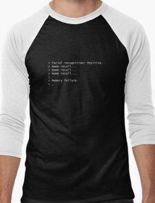 Name Recall Memory Failure Men's Baseball ¾ T-Shirt