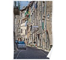 Up The Street in Sgurcola Italy Poster