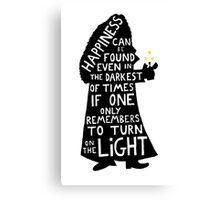 Harry Potter Dumbledore quote Canvas Print