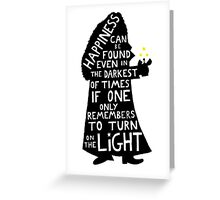 Harry Potter Dumbledore quote Greeting Card