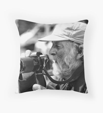 old school photographer Throw Pillow