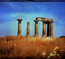 Temple of Apollo - Corinth, Greece 1969 by pennyswork