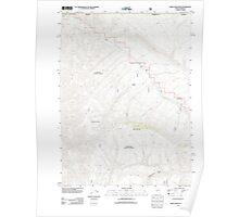 USGS Topo Map Nevada Odell Mountain 20111229 TM Poster
