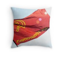 keeping the red flag flying (Communist Party Flag, London, May Day 2011) Throw Pillow