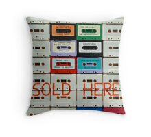 cassettes sold here Throw Pillow