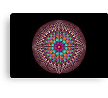 Optical illusion fractal flower Canvas Print