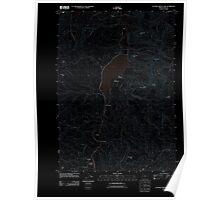 USGS Topo Map Oregon Cottage Grove Lake 20110902 TM Inverted Poster