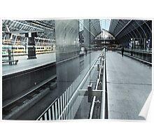 Solo Traveler, St Pancras International Station, London Poster