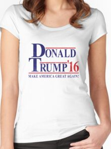 DONALD TRUMP FOR PRESIDENT 2016 Women's Fitted Scoop T-Shirt