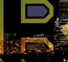 Bruins Spoked B & Boston Skyline Sticker