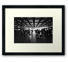 Commute, St Pancras International Station, London Framed Print