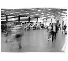 Departures, St Pancras International Station, London Poster