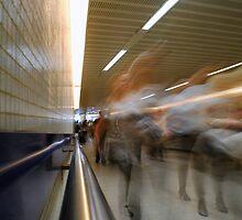 Underpass, St Pancras Underground Station, London by Chris Hageman