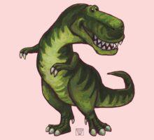 Animal Parade Tyrannosaurus Silhouette One Piece - Long Sleeve