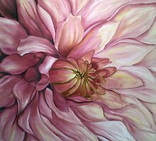 The glow of a dahlia by Husna Rafath