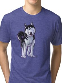Animal Parade Husky Silhouette Tri-blend T-Shirt