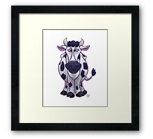 Animal Parade Cow Silhouette Framed Print