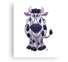 Animal Parade Cow Silhouette Canvas Print