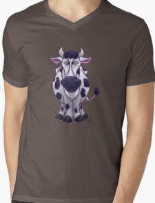 Animal Parade Cow Silhouette Mens V-Neck T-Shirt