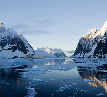 Early Morning in the Lemaire Channel by Mark Rawden