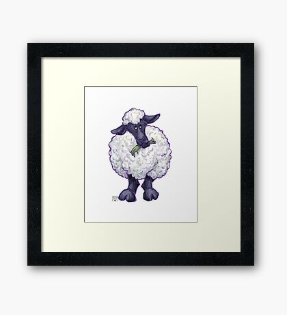 Animal Parade Sheep Silhouette Framed Print